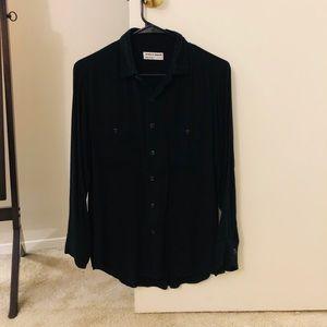 American Apparel Long Sleeve Rayon Button-Up Shirt